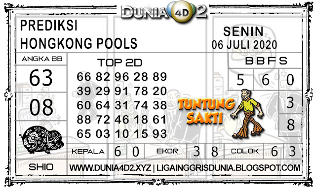 Prediksi Togel HONGKONG DUNIA4D2 06 JULI 2020