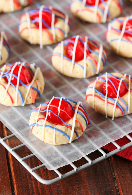 These fun and festive Red, White, & Blue Cherry Almond Cookies will pair perfectly with your 4th of July fireworks!