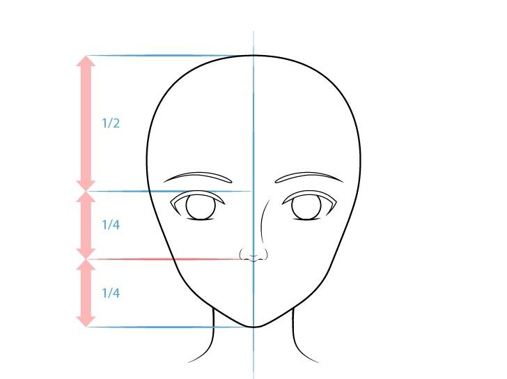 Gambar hidung anime yang realistis