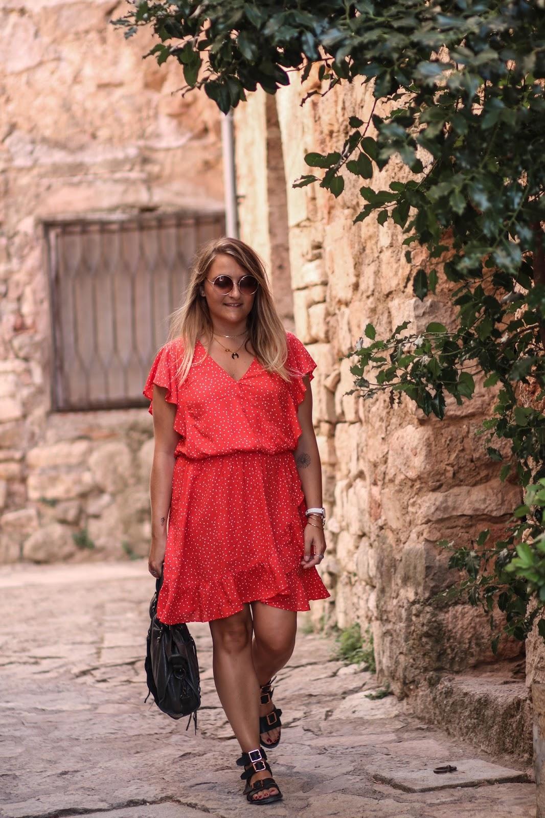 robe à pois rouge camaieu parisgrenoble
