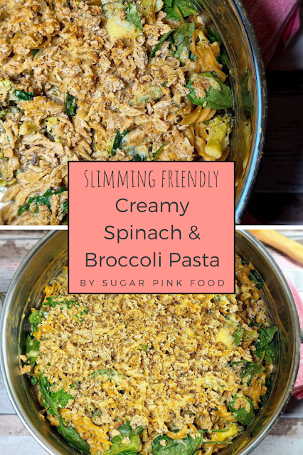 Creamy Spinach & Broccoli Pasta with Garlic & Herb Crumb | Slimming Recipe