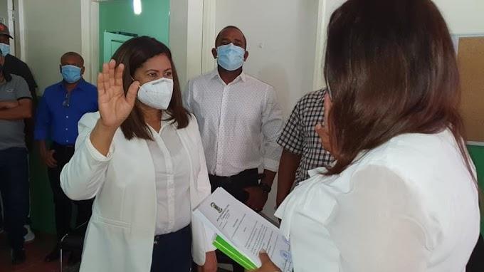 VILLA CENTRAL:- POSESIONAN A MAGDALIA MEDINA PEREZ  CÓMO DIRECTORA  DE LA JUNTA DISTRITAL