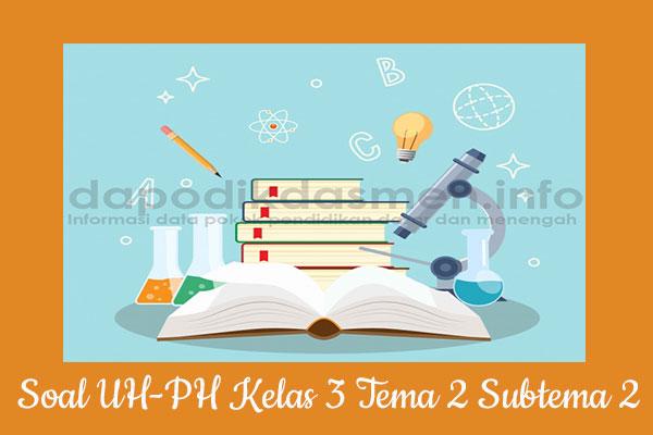 Soal UH PH Kelas 3 Tema 2 Subtema 2 Kurikulum 2013