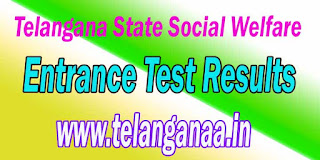 Telangana TSWREIS 6th 7th 8th 9th Class Entrance Test Results 2017