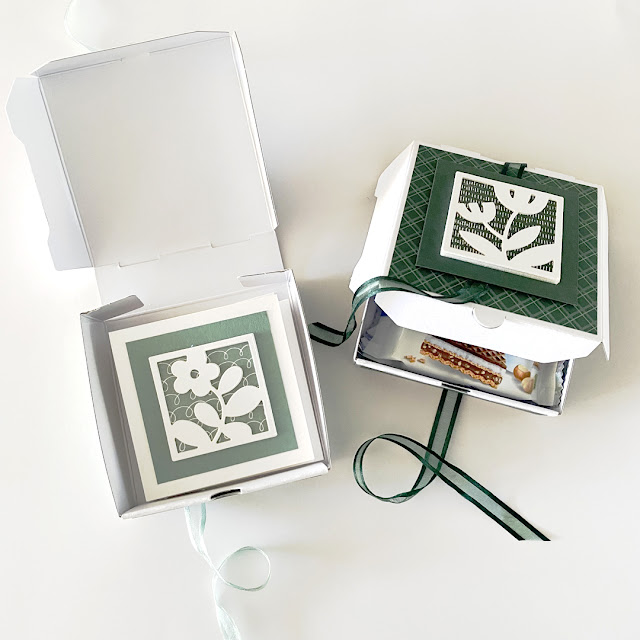 All Squared Away Pizza boxes - Stampin' Up! - Caro's Kaartjes
