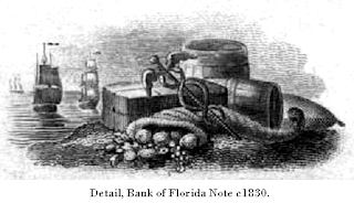Detail, Bank of Florida Note c1830.