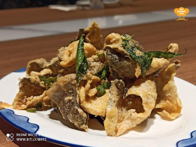 Dim Sum Menu - Crispy Fish Skin In Salted Eggs