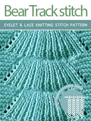 Eyelet & Lace Knitting Stitch Pattern Free