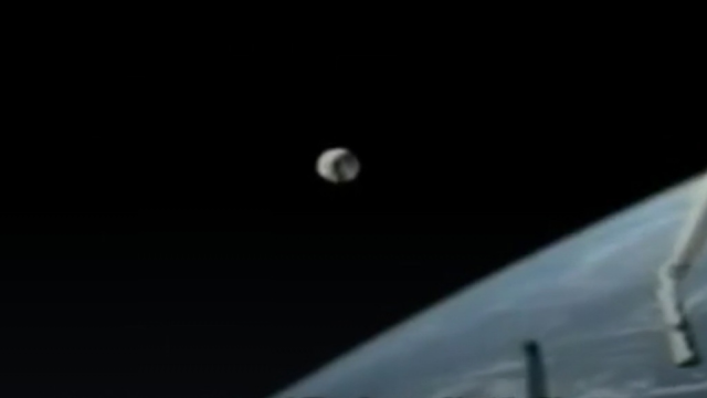 Spherical craft flew past the ISS and Shuttle without a care in the erm... world.