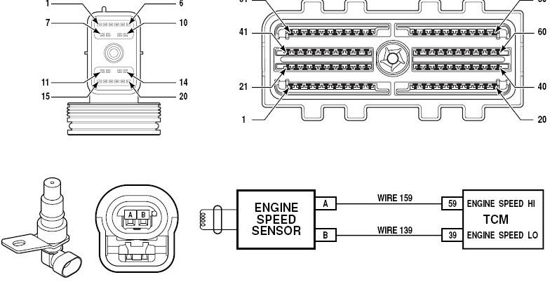 dtc p0726   p0727 engine speed sensor circuit performance   no signal
