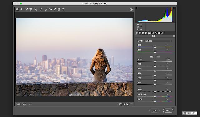 Adobe Photoshop Camera Raw 濾鏡 - 介面