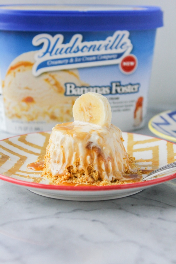 These five ingredient Bananas Foster Ice Cream Tartlets are just as delicious as they are adorable! They make a perfect dessert for birthdays, holidays, or any other special occasions.