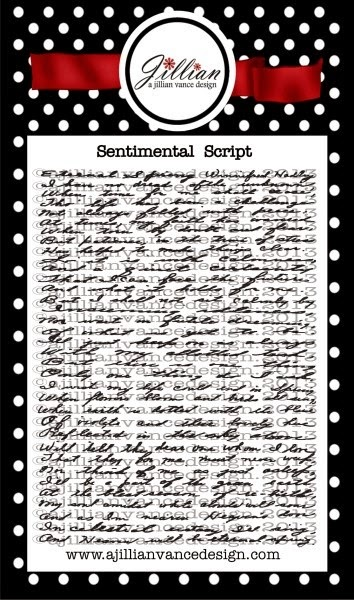 Sentimental Script stamp