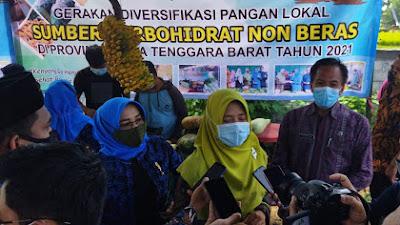 Dinas Ketahanan Pangan NTB Gemakan Diversifikasi Pangan Lokal di Lombok Barat