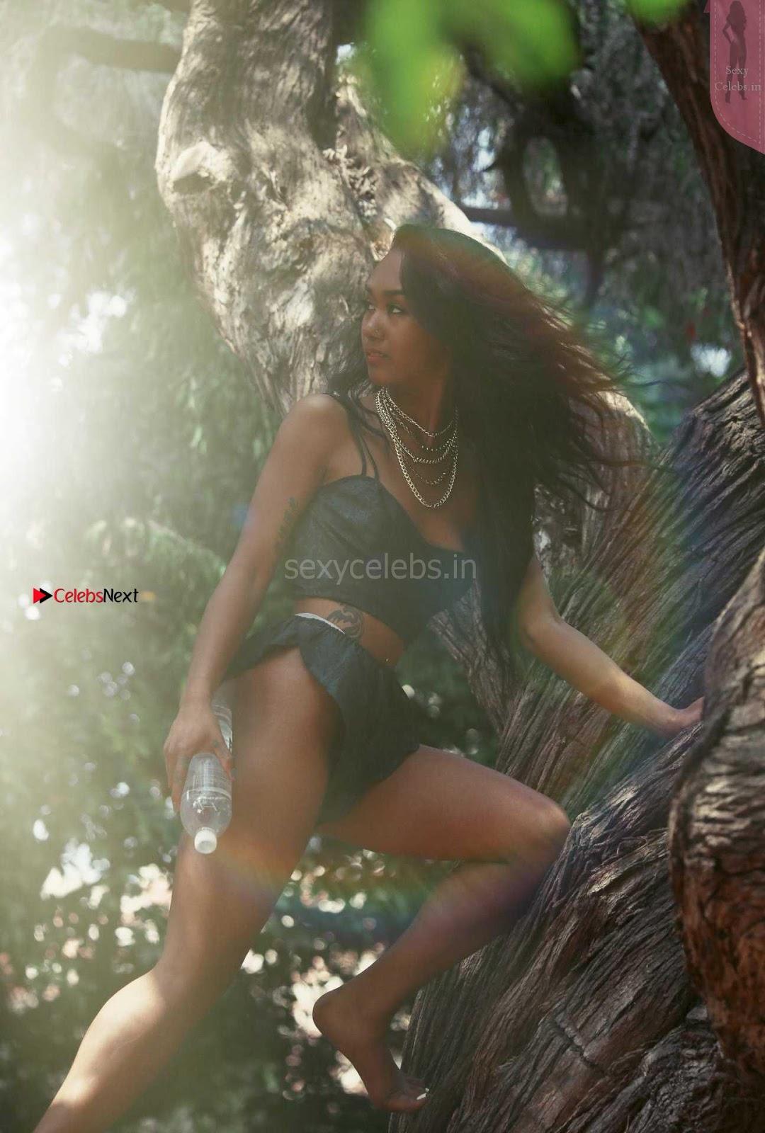 Lailanni Hussein Sexy Bikini in Jungle promoting 138 Waters ~ SexyCelebs.in Exclusive