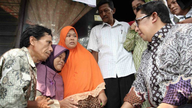 Fadli Zon mengunjungi orangtua Arsyad pada 2014