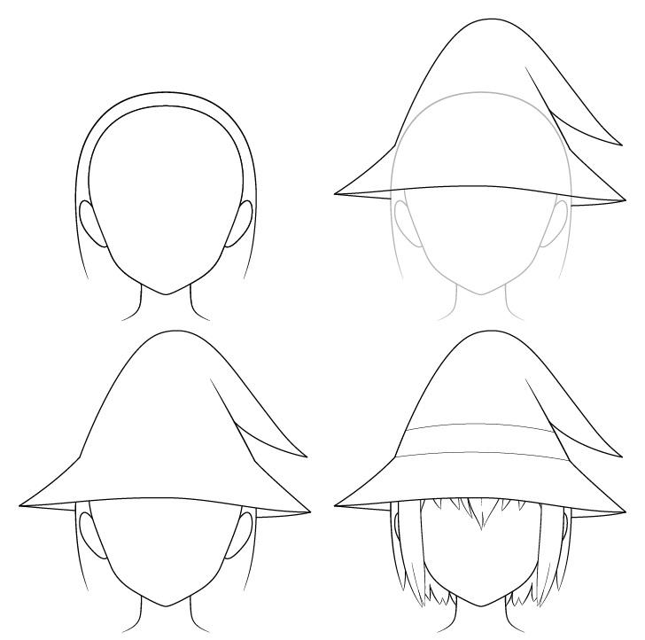 Gambar topi penyihir anime selangkah demi selangkah
