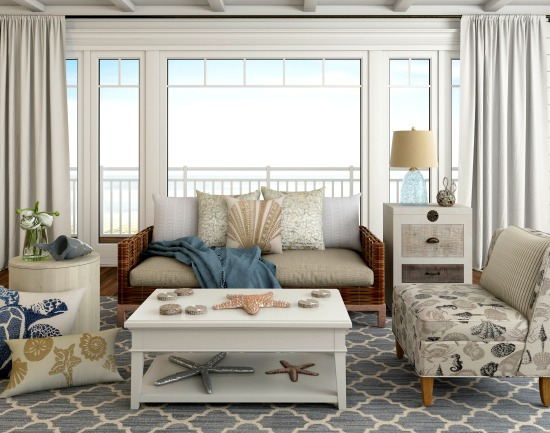 Neutral Beach Beige Living Room Idea