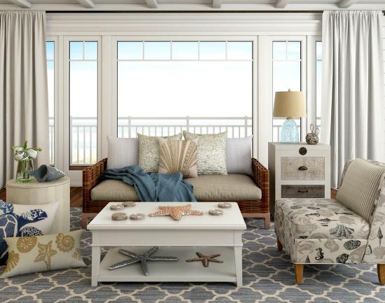 Beige gray beach living room beachcrest home catalog for Gray neutral living room