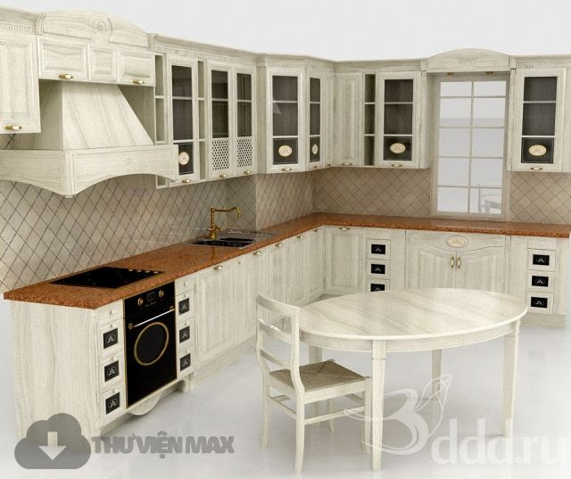 [3dmodelfree] Kitchen Cabinets