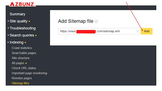 submit sitemap yandex