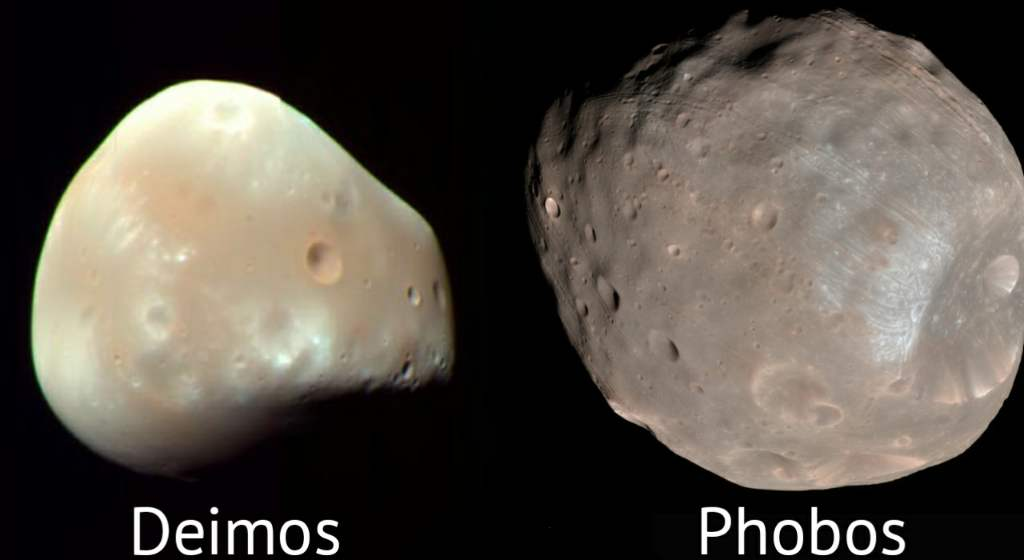 Two moons of Mars - Deimos and Phobos