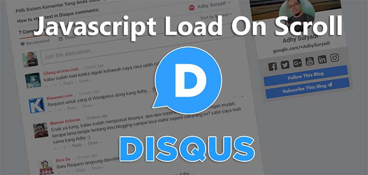 Javascript Load On Scroll Disqus Comment