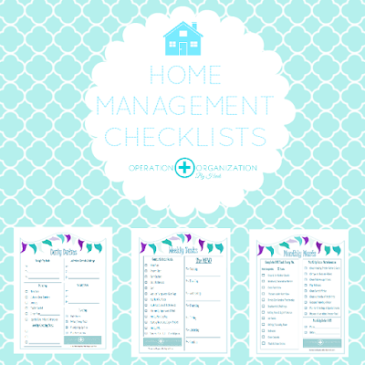 Check out the FREE printable Home Management checklists that Operation Organization by Heidi has available!  Professional Organizer Peachtree City, Senoia, Newnan, Fayetteville. Fayette County, Coweta County