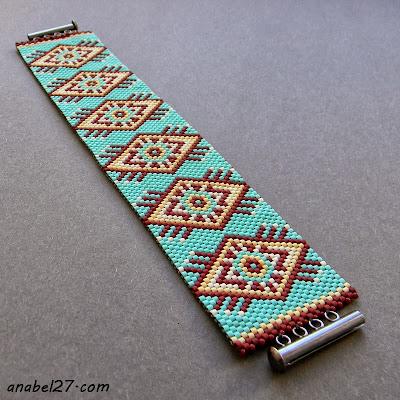 Купить украшения из бисера в стиле этно бохо авторский браслет