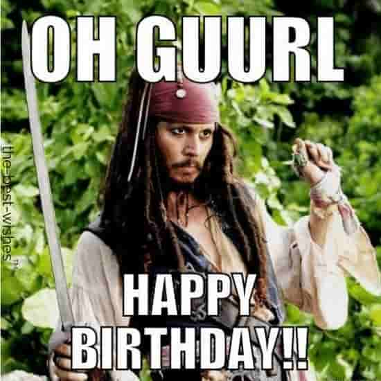 happy birthday friend meme for her from jack sparrow
