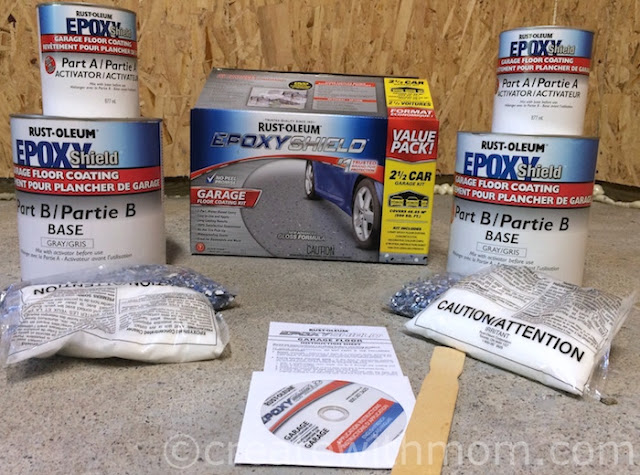 Rust-oleum Epoxy Shield garage flooring