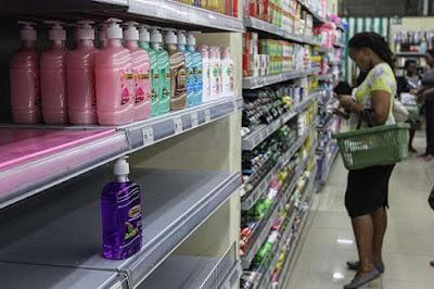 Tuskys shopping. Empty shelves witnessed over coronavirus. PHOTO | NMG
