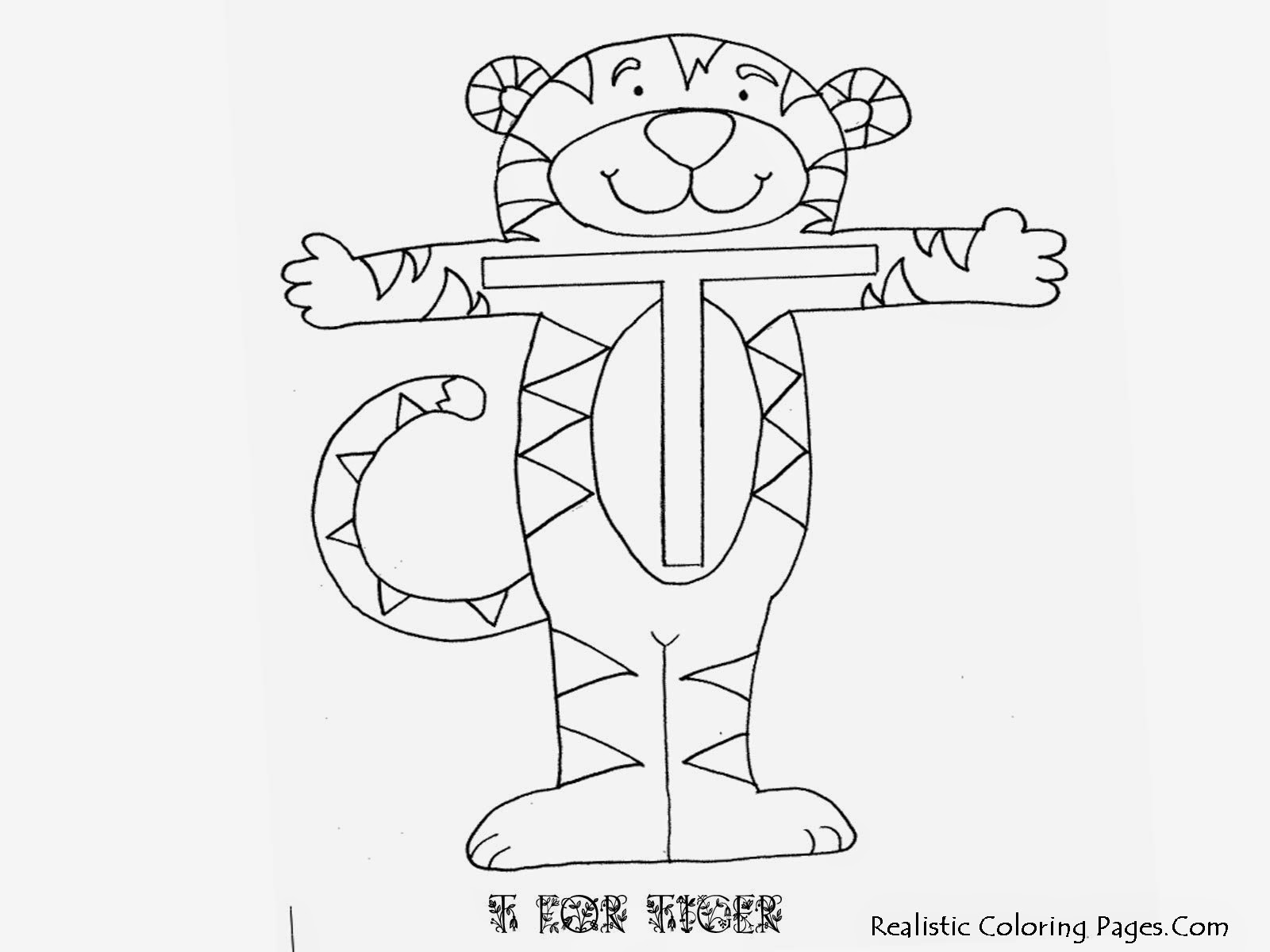 Alphabet Coloring Sheet T Letters