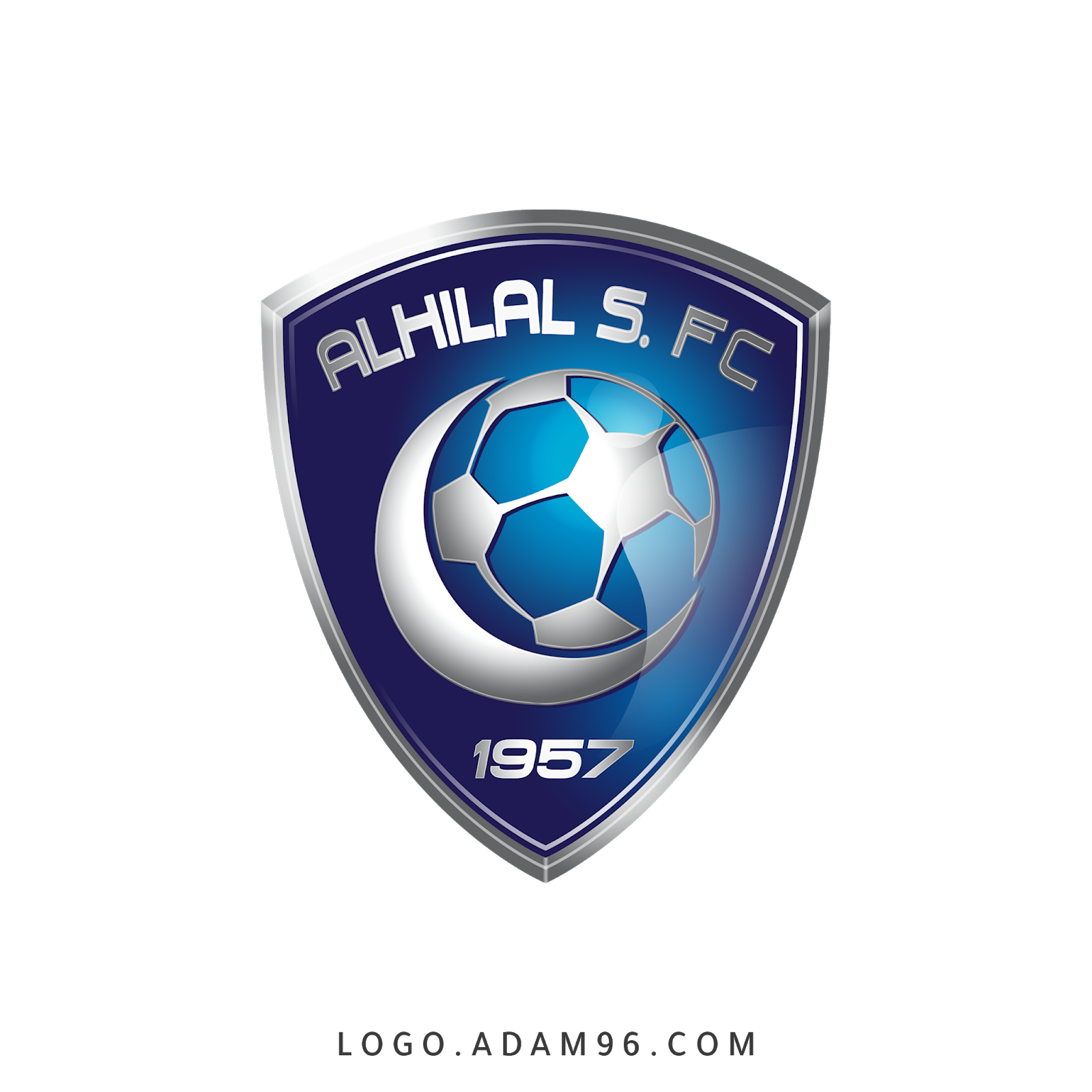 تحميل شعار نادي الهلال السعودي الاصلي بجودة عالية Png