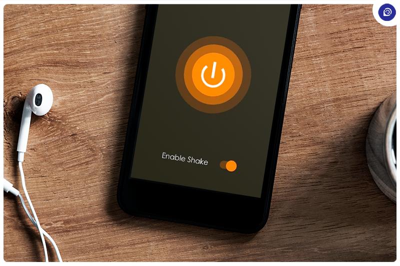 Control Flashlight With a Shake.