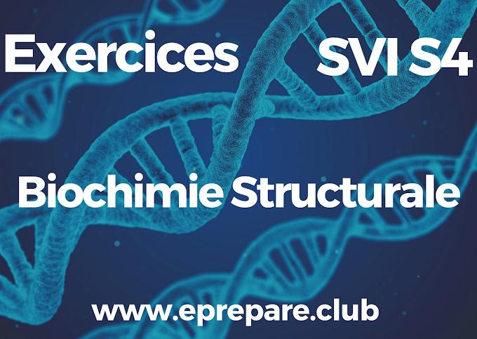 Exercices corrigés de Biochimie Structurale  SVI S3 PDF