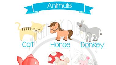 Animales en Inglés para aprender