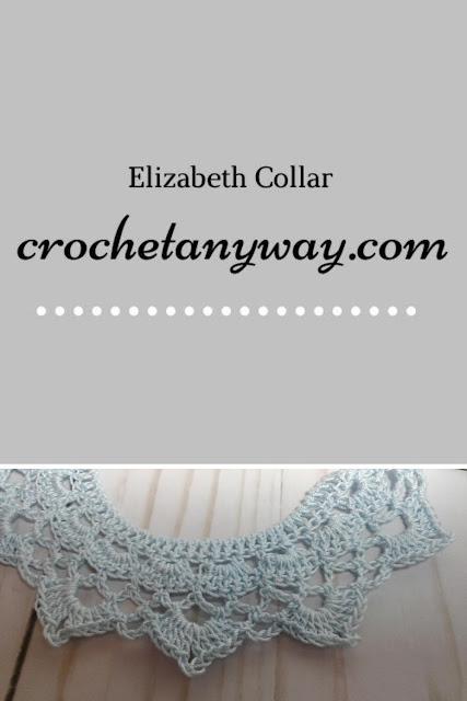 crochet collar and title Elizabeth Collar