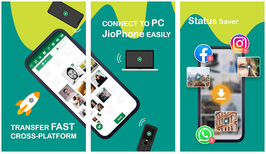 xender app on jio phone