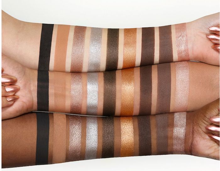 Huda Beauty Smokey Obsessions eyeshadow palette swatches