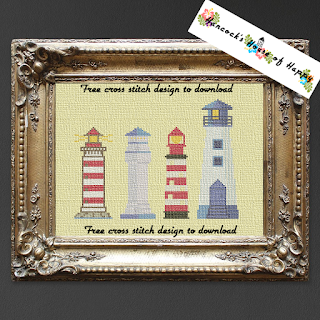four nifty cross stitch lighthouses
