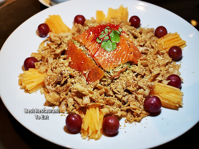 CNY 2019 Set Menu -  Fresh Fruits Yee Sang With Salmon