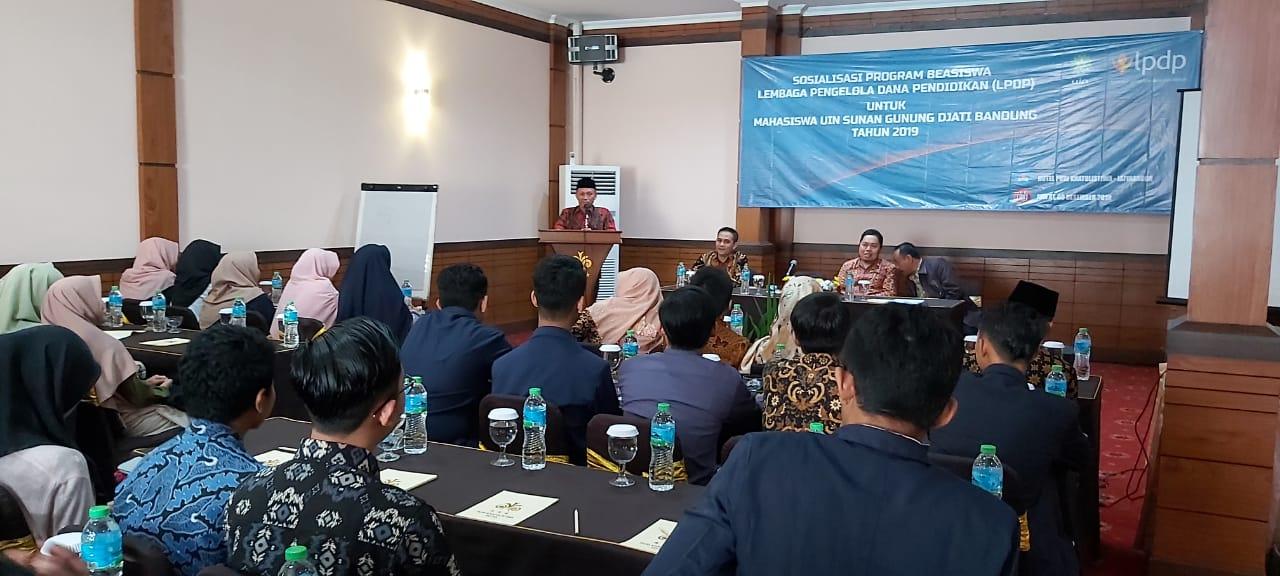 UIN BANDUNG MEMOTIVASI MAHASISWA UNTUK PROGRAM BEASISWA LPDP | TOEFL HARUS BERPOINT 450