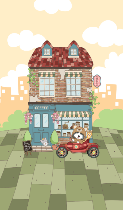 Doggi in sweet coffee shop