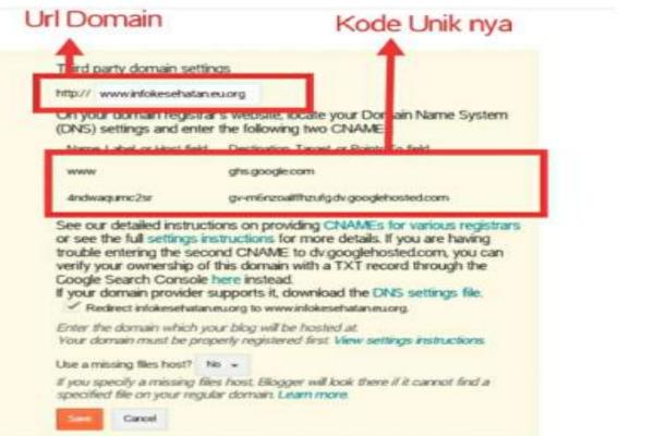 Memasang domain EU.org ke blogger