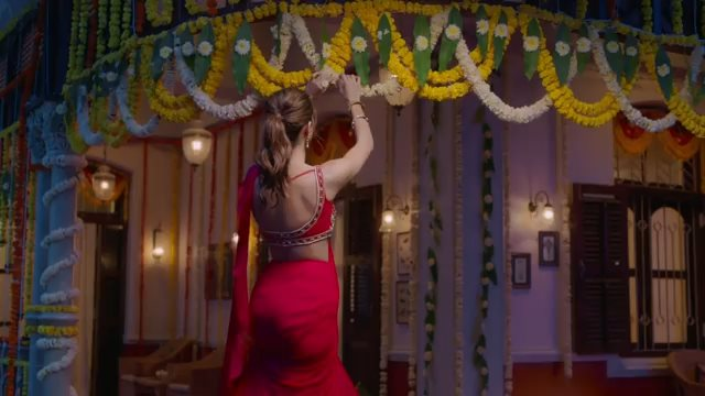 Ananya Panday's stunning hot avatar in red saree for Lakme ad