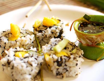 Uramaki Califórnia Simples (vegana)
