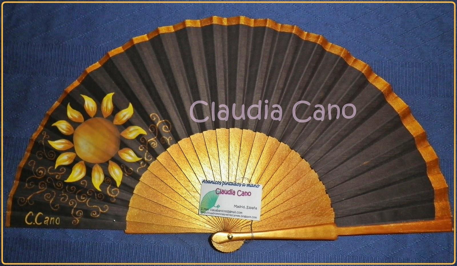 Abanicos pintados a mano por claudia cano septiembre 2011 - Abanicos pintados a mano originales ...