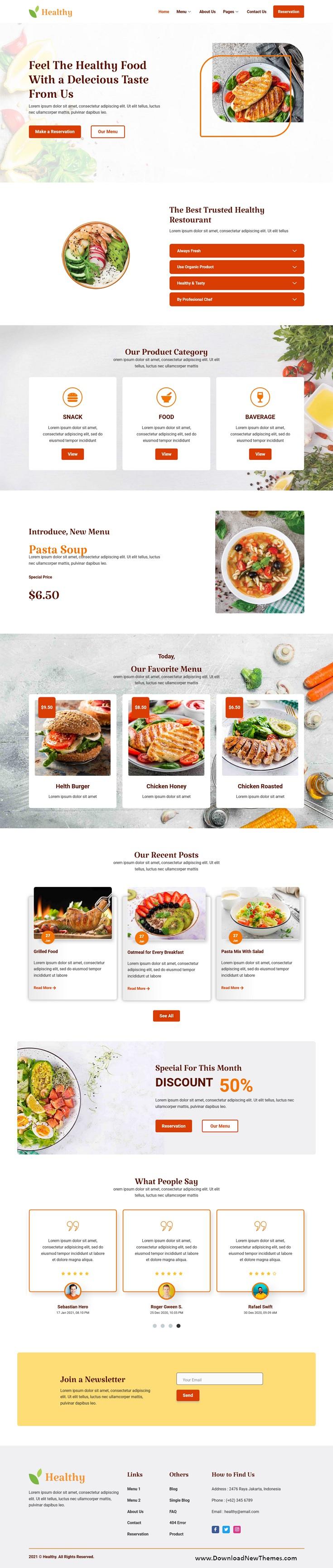 Restaurant Premium Elementor Template Kit