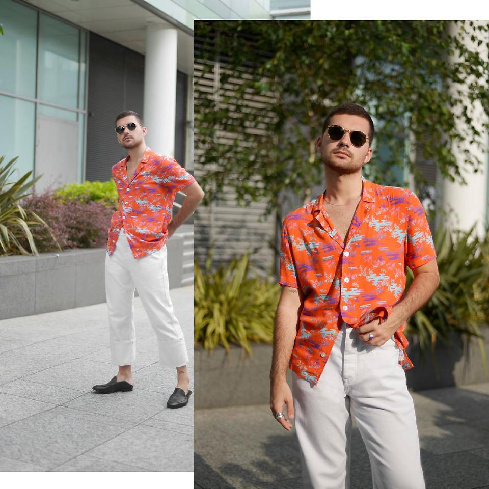 look masculino estiloso laranja turmeric para o verao e carnaval cores ano 2019